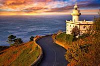Igeldo Lighthouse, Donostia, San Sebastian, Gipuzkoa, Basque Country, Spain,