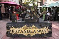 Española Way, Miami beach, Florida, USA