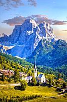 Italia , October 2009. Dolomite Alps. Cadore Region. Pelmo Mountain.