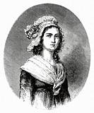 Portrait of Charlotte Corday. Marie-Anne Charlotte de Corday d'Armont (1768-1793) was a figure of the French Revolution. In 1793, she was executed by ...