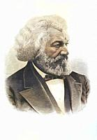 Frederick Douglass, 1818 1895. African-American, who was born a slave, escaped, and became an abolitionist, author and statesman. After a portrait pub...