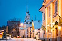 Parnu, Estonia. St. Katherine Orthodox Church And Parnu Visitor Center.