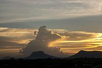 Dusk at Gunung Serapi, Matang, Sarawak, East Malaysia