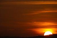Sunset over Gunung Serapi, Matang, Sarawak, East Malaysia