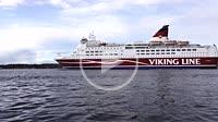 Stockholm, Sweden A Viking line ferry from Finland arrives in Stockholm.