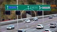 Stockholm, Sweden Traffic on the E4 highway.