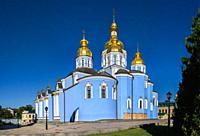 Kyiv, Ukraine. St. Michaels Golden-Domed Monastery in Kyiv, Ukraine, on a sunny summer morning.
