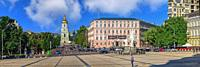 Kyiv, Ukraine. St. Sophia Cathedral on St. Sophia Square in Kyiv, Ukraine, on a sunny summer morning.