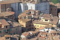 Duomo, medieval city, old houses, Siena from above, Siena from Campanile.