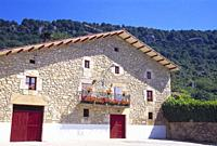 Facade of traditional house. Eulate, Navarra, Spain.