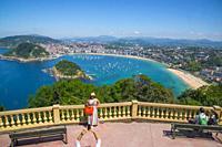 Viewpoint over the city. Monte Igueldo, San Sebastian, Spain.