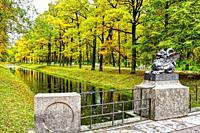 Dragon Bridge. Alexander Park Pushkin Russia.