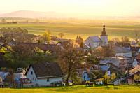 Gothic church in the village of Slovenske Pravno, Slovakia. .