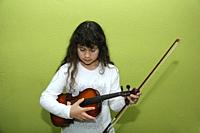 Little girl with a violin.