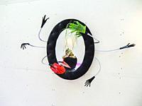 "Specchio """"schatzi"""" (""""Schatzi"""" Mirror), 1995. Mirror, velvet plastic hands. 118 x 96 cm / 46 29/64 x 37 51/64 inches. by Cinzia Ruggeriâ. . s (1942..."