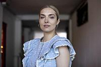 Polish actress Magdalena Kolésnik poses for a photo session on May 17, 2021 in Madrid, Spain