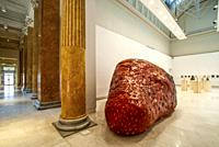 Capitan Fragolone (2020) (papier-mâché sculpture) by Valerio Nicolai Gorizia 1988, Palazzo Delle Esposizioni with a futurism exhibition, Quadriennale ...