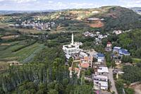 Aerial view of a Hui mosque in Yunnan, China.