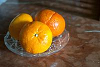 Three mandarins.
