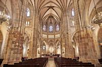 Interior of Santiago's Cathedral, bilbao, biscay, basque country, euskadi, euskal herria, spain, europe.