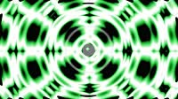 hypnotic central circle waves to edges and green rings fluctuate on abstract background for geometry shapes engineering concepts with seamless loopabl...