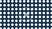 many vibrating white blue circles going away wave on center on abstract dark background for engineering design symmetry architecture concepts with sea...