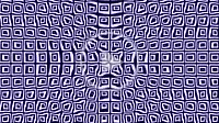 a lot of blue white squares shapes waves on abstract background for architecture art engineering concepts with seamless loopable elements texture anim...