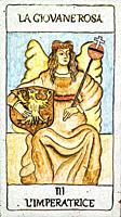 The empress, Medieval tarot cards.