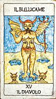 The Devil, Medieval tarot cards.