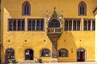 Old Town Hall with historic Imperial Hall and tourist information office in Regensburg, Bavaria, Germany.