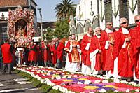 Senhor Santo Cristo dos Milagres (Our Lord Holy Christ of Miracles) religious festival. Ponta Delgada, Azores islands, Portugal.
