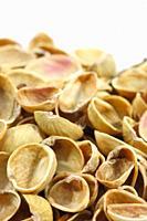 Empty pistachios shells.