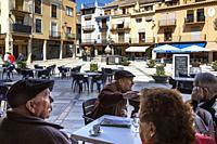 Main square. San Mateo. Maestrazgo region. Castellón. Spain.