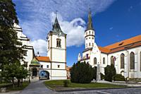Old Town Hall and St. James church in Levoca, UNESCO site, Slovakia.