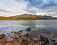 Derryclare Lough, or lake, Connemara National Park, County Galway, Republic of Ireland. Eire.