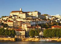 Coimbra, Portugal seen across the Mondego river.