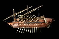 16th Century galley scale model. Museo Naval de Madrid.