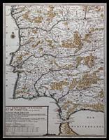 Iberian Peninsula Historic Map, 18th Century. Nicolas de Fer, 1703.