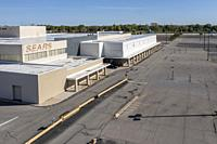 Lincoln Park, Michigan - A closed Sears store in the former Lincoln Park Shopping Center in suburban Detroit. The store is one of hundreds the retaile...
