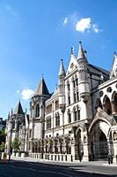 Royal Court of Justice, The City District, London, England.