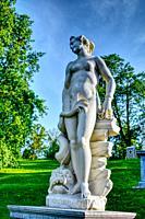 Olimpia marble sculpture. Peterhof Russia.