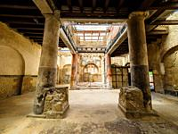 Room which served as a sacellum (small shrine) decorated in the fourth style - College of the Augustales (Sede degli Augustali) - Herculaneum ruins, I...