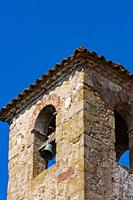 Rustic bell tower, Catalonia, Spain, Europe.