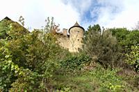 Castle at Villefranche-de-Panat Midi Pyrenees Aveyron France.