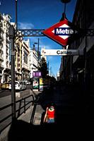 Callao Subway station. Gran Via Street. Madrid. Spain.