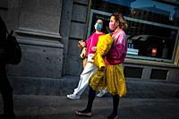 Agatha Ruiz de la Prada spanish designer. Gran Via Street. Madrid. Spain.