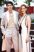 Alvaro Mel and Ana Polvorosa attends to Con Quien Viajas photocall on Malaga Film Festival 2021 June 5, 2021 in Malaga, Spain Malaga Spain. 5/6/21