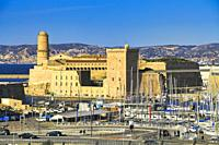 Fort Saint-Jean, Marseille, Provence-Alpes-Cote d'Azur, France.