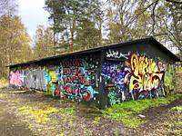 Graffiti on an abandoned house in Ystad, Scania, Sweden.
