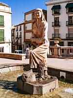 Fountain of 'La Mora'. Alcalá la Real, Jaén, Andalucía, Spain, Europe.